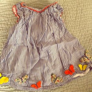 Baby boden butterfly dress/tunic 3-6m